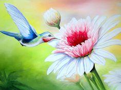 hummingbird painting - Buscar con Google