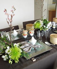oriental style table setting