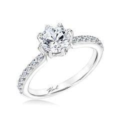 Shop online Karl Lagerfeld 31-KA152ERP-E Side Stone 18K - White Gold Diamond Engagement Ring at Arthur's Jewelers. Free Shipping