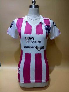 women monterrey fc 17 18 season pink third liga mx shirt jersey