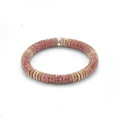 Bracelet in pink sapphires, diamant and gold by Fope.