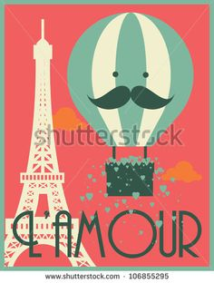 c37c3a43243b6 hot air balloon and paris eiffel tower poster template vector illustration