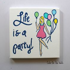 Life Is A Party Lilly Pulitzer Quote With by ColorOnTheWalls, $25.00 #lillypulitzer #quote
