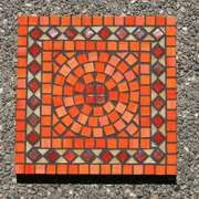 Image detail for -10-inch Square Orange Glass Mosaic Table | ThisNext