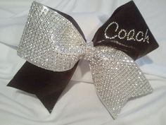 Cheer Coach Bow Big Luxury Bling Bow with by BowheadNation on Etsy, $14.99