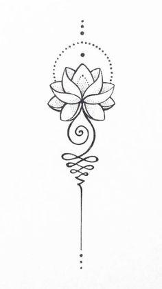 Unalome Lotus – #Lotus #symbol #unalome #s  tattoo shops near me - Tattoo #shops #– #Tattoo