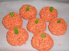 Easy & yummy pumpkin rice krispie treats