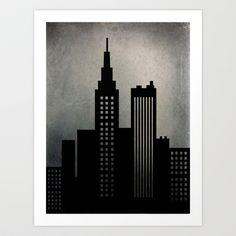 City+Skyline++Art+Print+by+ALLY+COXON+-+$20.00