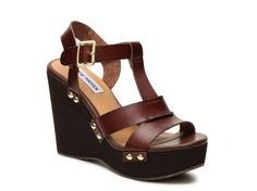 Women's Steve Madden Wynn Wedge Sandal - Cognac