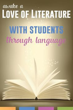 Connect literature and language, and watch students learn to love reading.