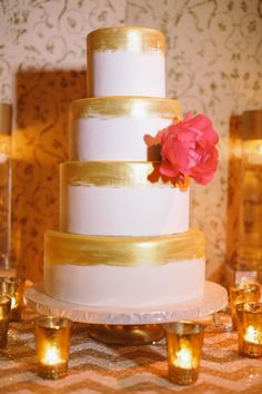 Gold Painted Cake