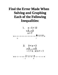 There are 8 stations for students go to during a class period.  I would suggest 7 to 8 minutes be allotted for each station.  The stations each include at least one word problem.  Questions at the stations include solving one-step inequalities. graphing inequalities.