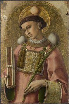 Carlo Crivelli - Santo Stefano; pannello Polittico del 1476 (o Polittico di San Domenico o, impropriamente, Polittico Demidoff) - 1476 - National Gallery di Londra