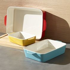 Set of 3 Potluck Baking Dishes | Crate and Barrel