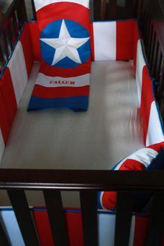 marvel avengers baby bedding--captain america--custom crib bedding