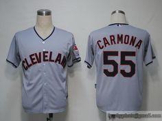 311706b2105 Indians  55 Fausto Carmona Grey Cool Base Embroidered MLB Jersey Baseball  Jerseys