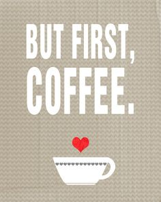 Quote Modern Wall Art Poster Print First Coffee A por colorarts