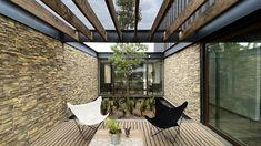 Gallery of Bascope House / Grib - 2 Steel Frame House, Steel House, Metal Building Homes, Building A House, Arch Interior, Architect House, Metal Buildings, Design Moderne, Live Plants