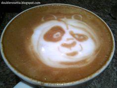 Panda...Kung Fu panda style face for kids hot chocolate