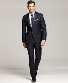2850bdcfff62 Ryan Seacrest Distinction Navy Slim-Fit Tuxedo Separates Men - Suits    Tuxedos - Macy s