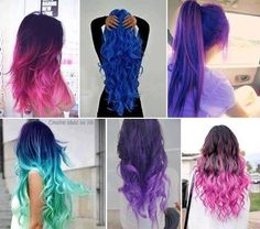 LOVE this hair! Bright colors are so fun