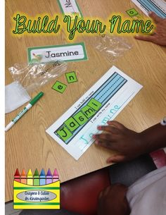Using Children's Names In The Beginning of Kindergarten! FREE name building printableAll In A Name! Using Children's Names In The Beginning of Kindergarten! FREE name building printable Kindergarten Names, Preschool Names, Beginning Of Kindergarten, Kindergarten Language Arts, Kindergarten Centers, Beginning Of The School Year, Kindergarten Literacy, Kindergarten Activities, Writing Activities