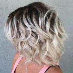 white blonde with dark brown roots