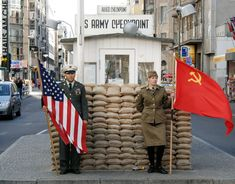 Checkpoint Charlie - The divide between East and West Berlin - Now just a memory