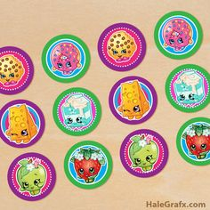Having a Shopkins party? Get my free printable Shopkins cupcake toppers. They make a great addition to a Shopkins party theme. Fete Shopkins, Shopkins Bday, Shopkins Printable, Shopkins Cake, Cupcake Toppers Free, 6th Birthday Parties, 8th Birthday, Birthday Ideas, Birthday Celebration