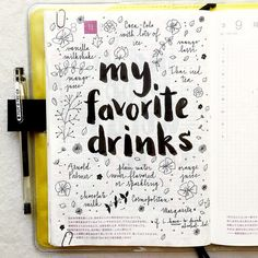 journal page idea... my favorite drinks