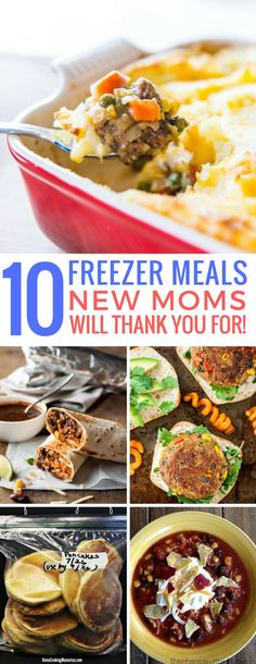 Loving these freezer meals for new moms! So easy to make ahead of time! Perfect baby shower gift too! Thanks for sharing!