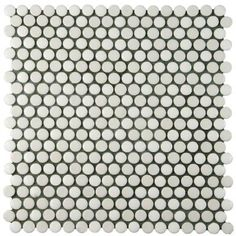 Merola Tile Comet Penny Round White 11-3/4 in. x 11-3/4 in. x 8 mm Porcelain Mosaic Floor and Wall Tile-FSHCOMWH - The Home Depot