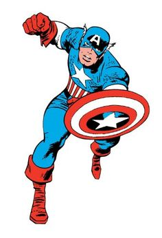 Bring super power to a room by applying the Classic Captain America Wall Sticker. This Marvel Comics wall art is easily removable, making it the perfect DIY decor for your home or office. One of our awesome Avengers giant wall decals! Marvel Comics, Marvel Avengers Assemble, Marvel Heroes, Avengers Room, Marvel Room, Jack Kirby, Marvel Images, Hulk Comic, Comic Art