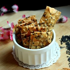 The Informal Chef: Chinese New Year Snacks - Crispy Seaweed Popiah Skin with Toasted Sesame Cookie Desserts, Cookie Recipes, Florentine Cookies, New Year's Snacks, Crispy Seaweed, Almond Brittle, Savoury Biscuits, New Year's Food, Biscuit Cookies