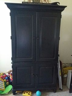 Real wood armoire in Bedford, TX (sells for $60)