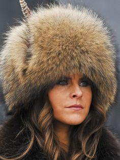 ZARA Phillips was caught in a rather embarrassing pose as she picked her nose during Ladies Day at the Cheltenham Festival. Sorel Winter Boots, Fur Accessories, Vintage Fur, Love Hat, Cool Hats, Fur Fashion, Fashion Today, Fox Fur, Ladies Day