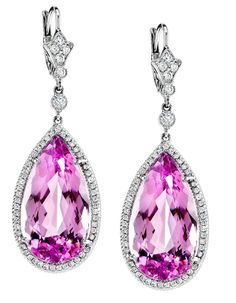 NEIL LANE pink tourmaline and diamond drop earrings Tourmaline Jewelry, Pink Tourmaline, Gemstone Jewelry, Beaded Jewelry, Pink Diamond Jewelry, Diamond Drop Earrings, Neil Lane Jewelry, Titanic Jewelry, Pink Gemstones