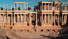 archaeology, Merida, Spain, archeology, Roman, ruins, amphitehater