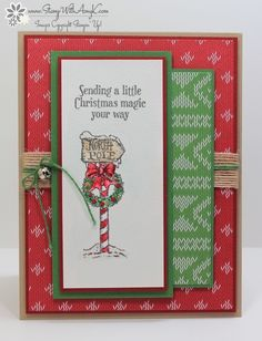 I used the Stampin' Up! Christmas Magic stamp set to create my card to share today.  I've been having a lot of fun watercoloring the images from the Holiday Catalog!  Here is another on…