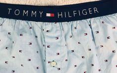 fa567edc5dfcb Tommy Hilfiger Mens Boxers XL 40-42 Light Blue Cotton Tommy Flag print  #TommyHilfiger