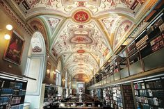 The Vatican Library, Vatican City, Rome - Italy Vatican Library, Vatican City, Beautiful Library, Dream Library, Catholic Priest, Centenario, The Secret Book, The Secret History, City State