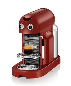 Maestria Rosso | Cappuccino Machine | Nespresso  Not quite my model, but first things first. I make an iced latte, it lures me out of my comfy bed... #nespresso