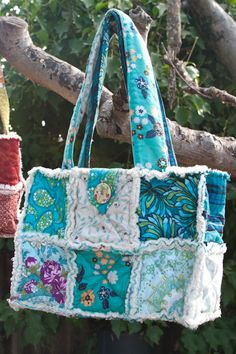 *Teal Rag Bag Purse  by MichellesEye, $25.00