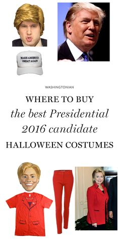 To get your costume creative juices flowing, here are five political characters we're expecting to see a lot of this Halloween | Washingtonian