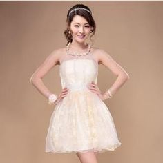 Buy 'Moondear – Faux-Pearl Halter Sleeveless A-Line Cocktail Dress' with Free International Shipping at YesStyle.com. Browse and shop for thousands of Asian fashion items from China and more!