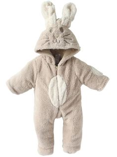 A168® Baby Boy Girl Cute Bunny Animal Fluffy Rabbit Fleece Romper / Snowsuit with Hood / Outfit: Amazon.co.uk: Clothing