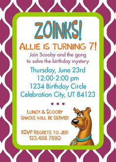 42 Best Scooby Doo Birthday Party Images Birthday Party Ideas
