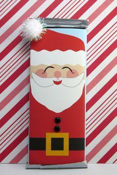 Christmas Candy Bar, Diy Christmas Gifts, Christmas Greetings, Christmas 2019, Christmas Ideas, Xmas, Candy Bar Wrapper Template, Candy Bar Wrappers, Free Christmas Printables