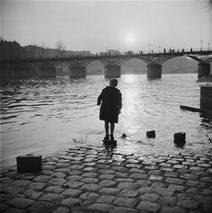 """tryagainr: """" Marcel Bovis, Quai du Louvre. Paris (1946) """""""