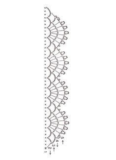 Crochet chart lace edging | Flickr – Compartilhamento de fotos!
